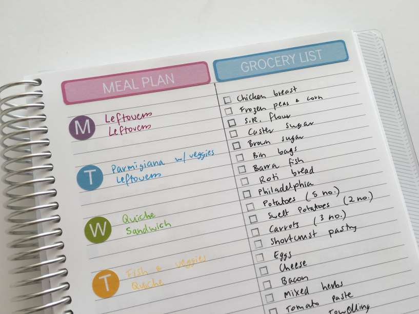 meal planning ideas planner spread decorating minimal rainbow menu plan creative inspiration ideas plan with me challenge-min