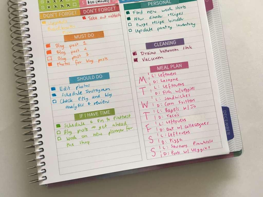 plum paper planner review memory keepers book as a weekly planner color coded task list organized to do list day to a page layout planning plan with me-min