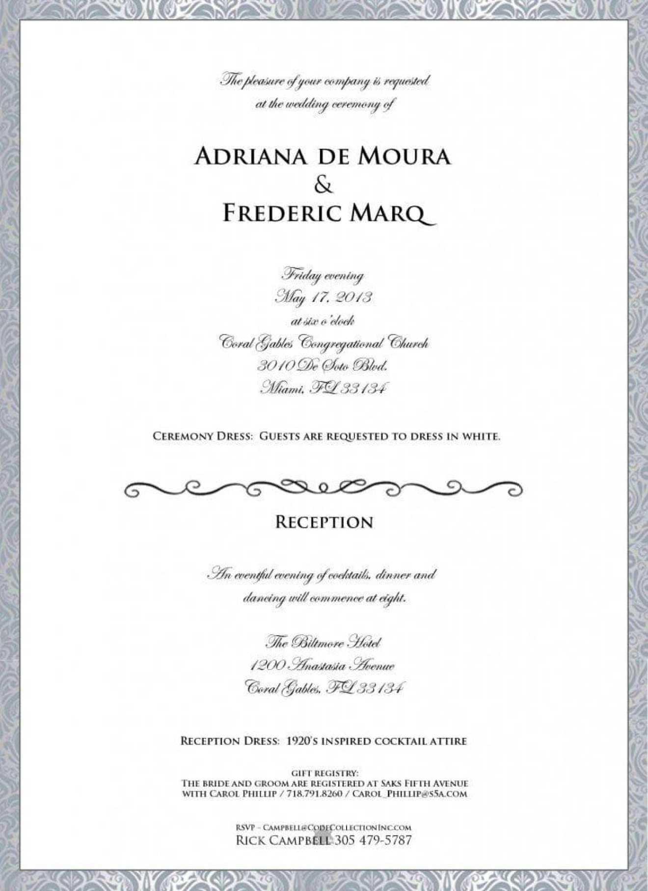 Adriana de Moura\'s Wedding Invitation Leaks; Producers Enforce ...