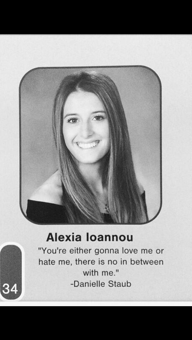Senior Quotes For Girls Alluring Dina Manzo's Daughter Lexi Manzo Quotes Danielle Staub For Her