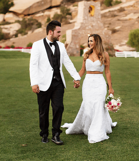 PHOTO: Scheana Marie Bares Stomach In Cropped Top Wedding