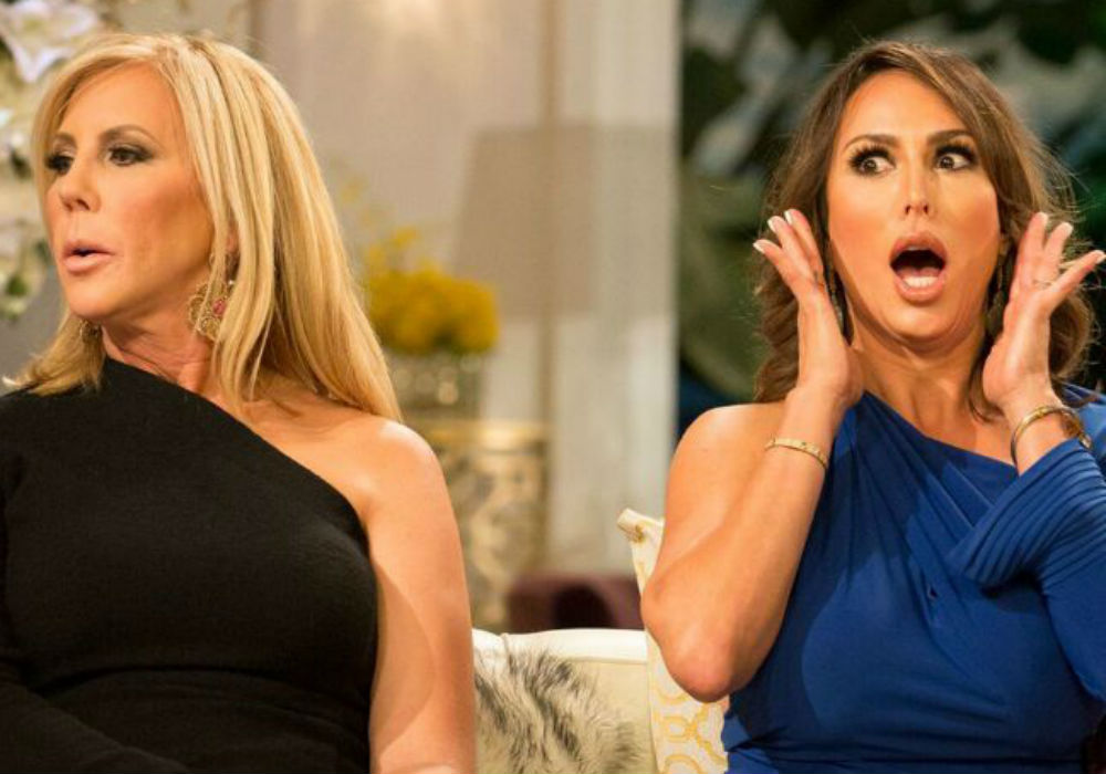 Real Housewives Tamra Judge topless with Vicki Gunvalson