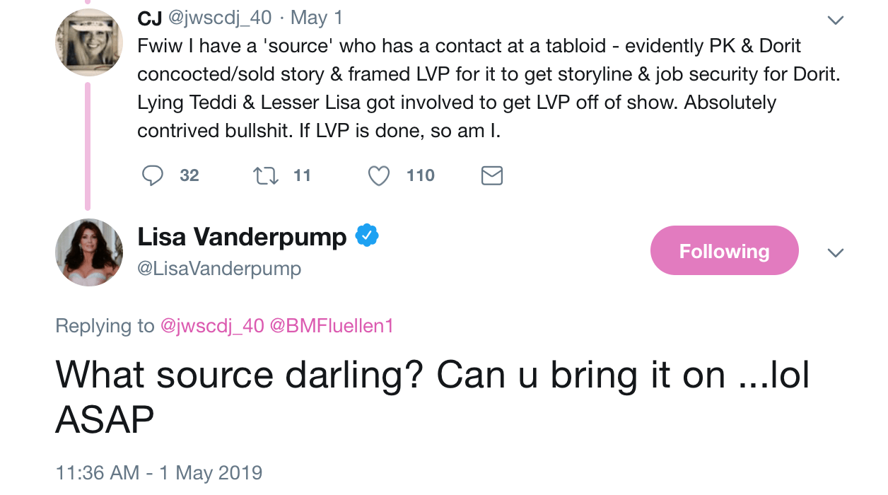 ⋆ Lisa Vanderpump Fan Claims To Have Proof That RHOBH Cast Leaked