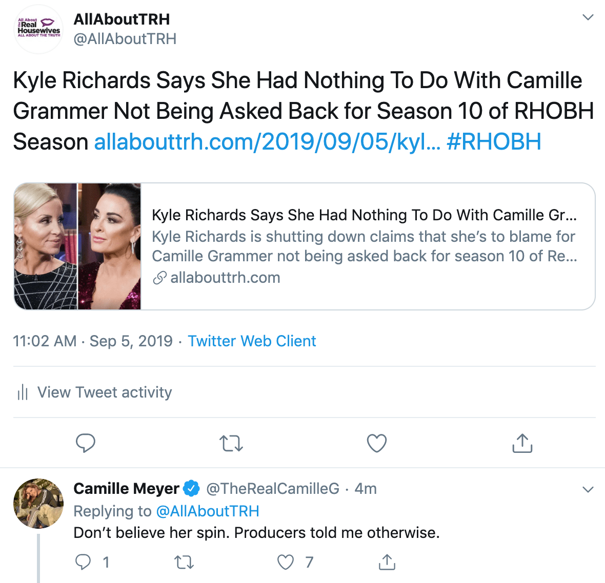 Tamra Judge Calls BS Over Camille Grammer's Claims That