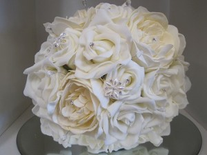 bouquet with ivory pearl flowers
