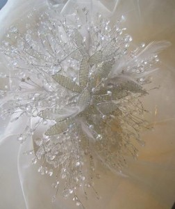 trailing crystal bouquet