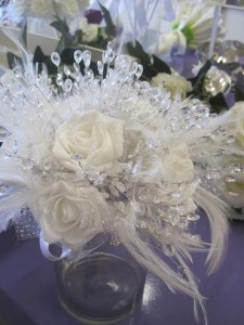 white crystal bouquet