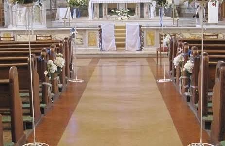 Wedding Church Decor at Mount Argus Church