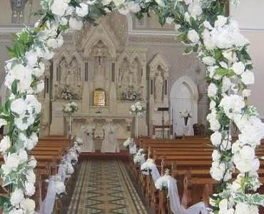 St. Patricks Church Wicklow Town Wedding Decor