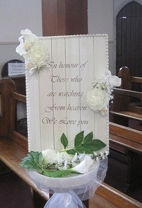Ceremony Decor at St Annes church in Bohernabreena