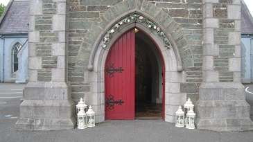 Ceremony Decor at St Brigids Church in Dunleer