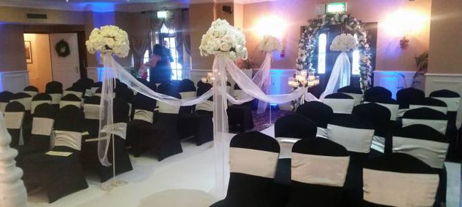Ceremony Decor at The Leixlip House Hotel by All About Weddings