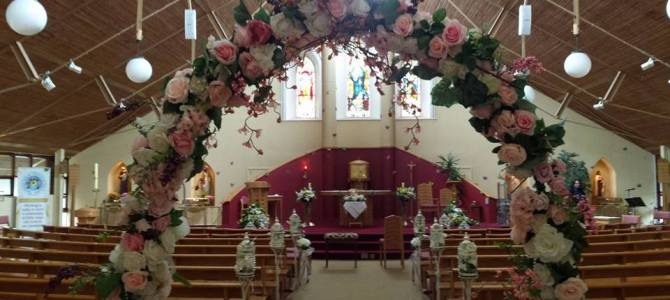 Ceremony Decor at The Immaculate Heart of Mary Church, Collinstown Road, Rowlagh, Dublin
