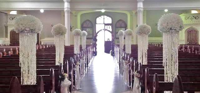 Ceremony Decor at Carlow Cathedral by All About Weddings