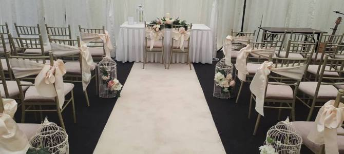 Ceremony Decor at Seafield Hotel Gorey, Co. Wexford