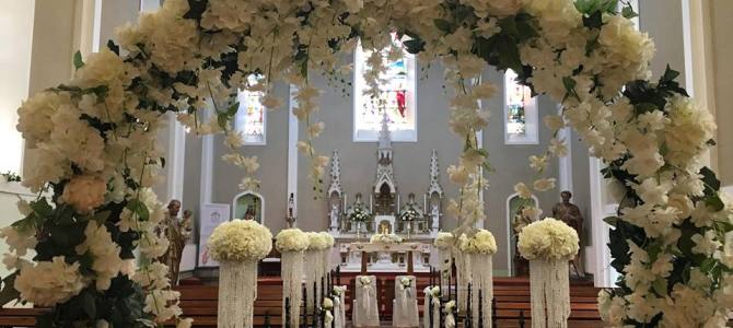 Ceremony Decor at Crooke Church Waterford by All About Weddings