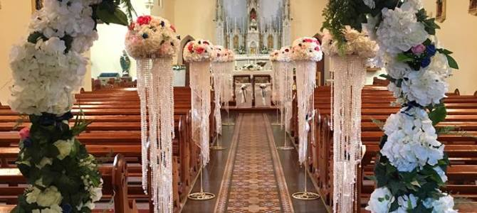 Ceremony Decor at Drangan Church, Thurles Co. Tipperary