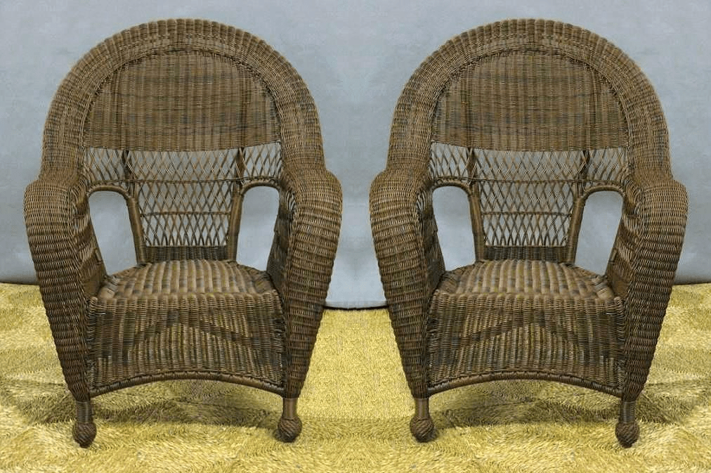 high back wicker chair cushions parsons dining room covers charleston outdoor chairs - 2, all about
