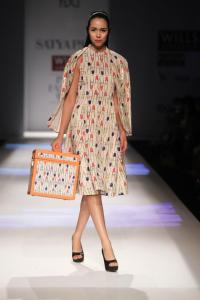 Quirk lipstick print by Masaba for Satya Paul