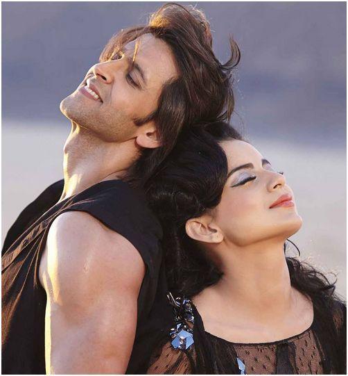 Kangna and Hrithik in Krrish 3