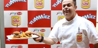 Chef Vicky Ratnani with meat ball sliders