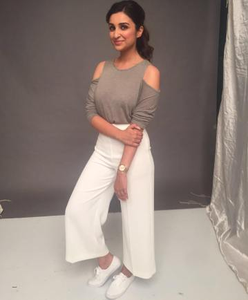 Parineeti dons a cold shoulder top