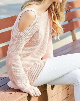 cold shoulder sweater