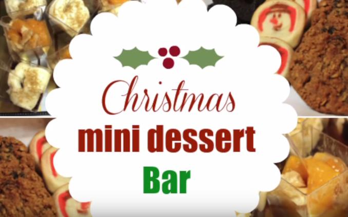 Mini christmas dessert bar ideas i heart recipes all for Bar food ideas recipes