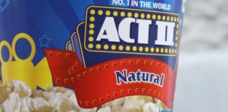 Act II popcorn tub