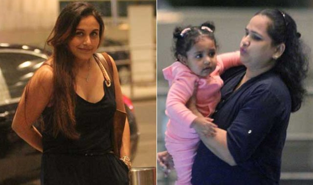 Rani Mukherjee with daughter Adira