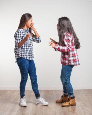 Sisters talking