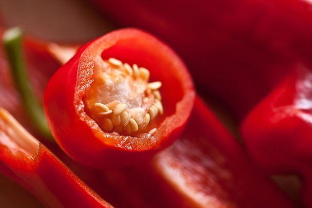 Guinea spice or red hot chili pepper