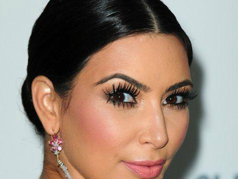Kim loves her long lashes