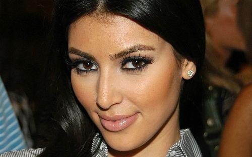 Kim loves her smokey eyes