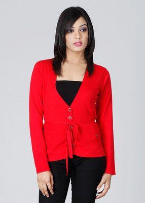 Monte Carlo Solid Fashion Neck Casual Women's Sweater