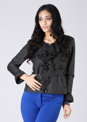 Elle Full Sleeve Solid Women's Jacket