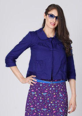 People 3/4 Sleeve Solid Women's Jacket