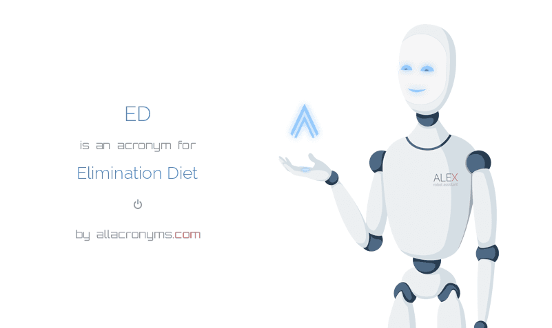 ED abbreviation stands for Elimination Diet