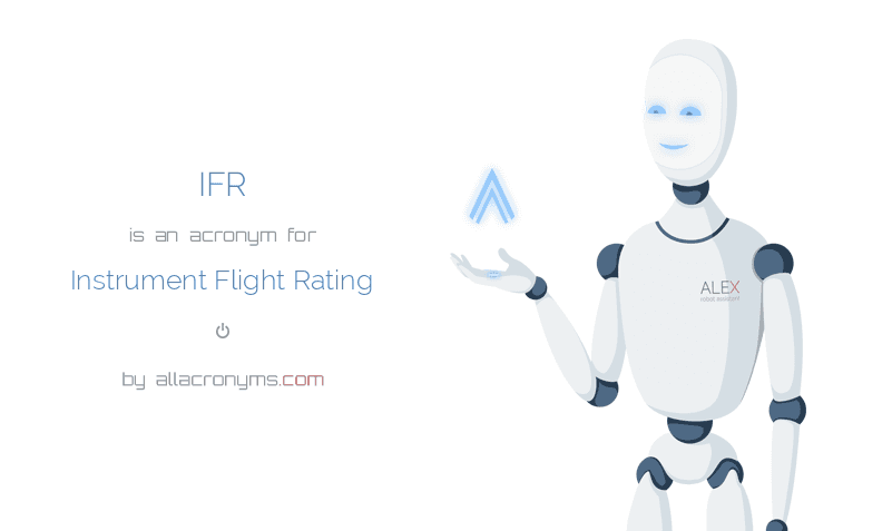 IFR abbreviation stands for Instrument Flight Rating