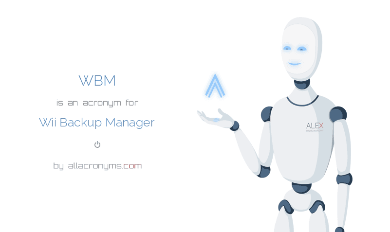 WBM abbreviation stands for Wii Backup Manager