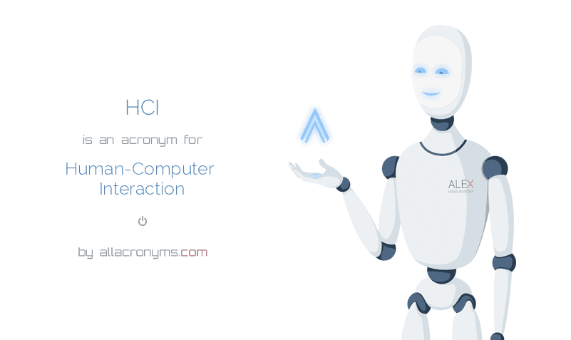 HCI abbreviation stands for Human-Computer Interaction
