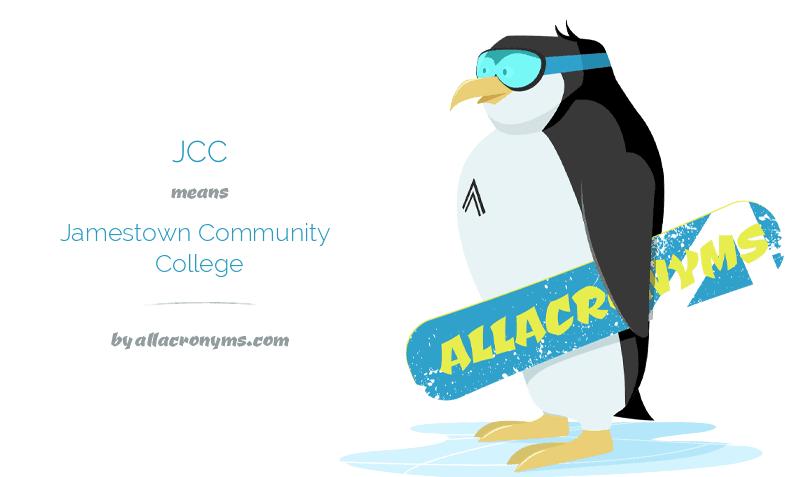 JCC abbreviation stands for Jamestown Community College