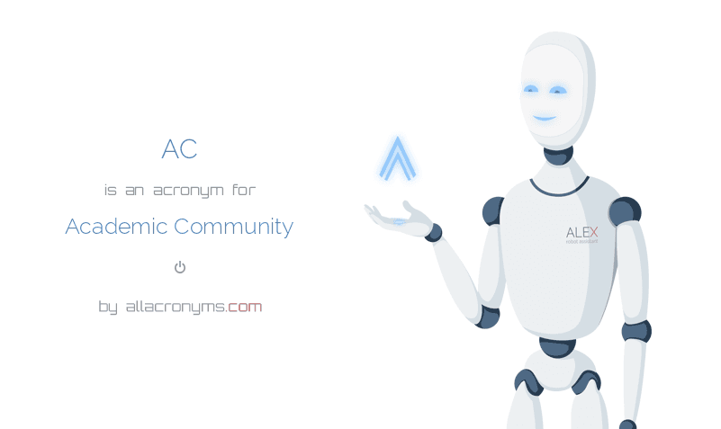 AC abbreviation stands for Academic Community