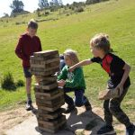 Giant Jenga playtime during our School Holiday Program