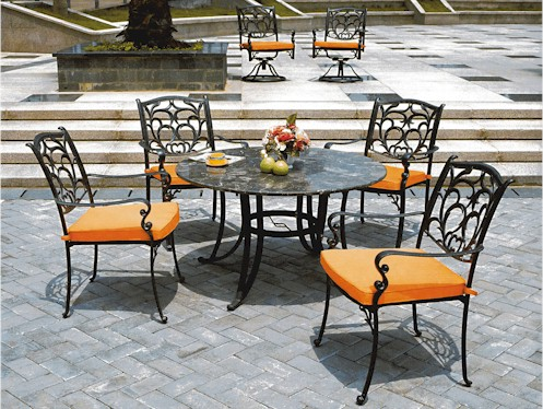 of wrought iron patio furniture