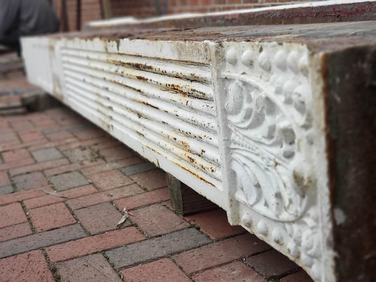 Architectural Salvage. Column. White