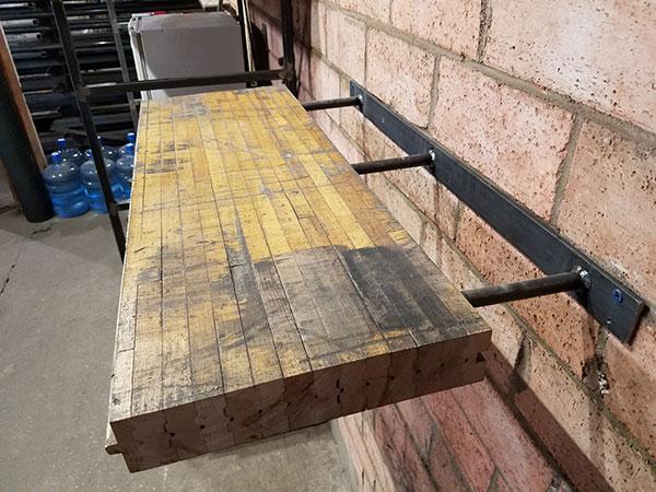 7. Railcar Countertop