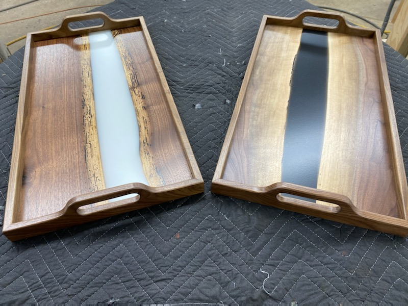 Reclaimed Wood. River Trays