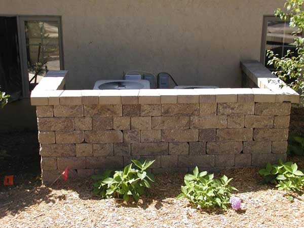 backyard retaining wall makeover