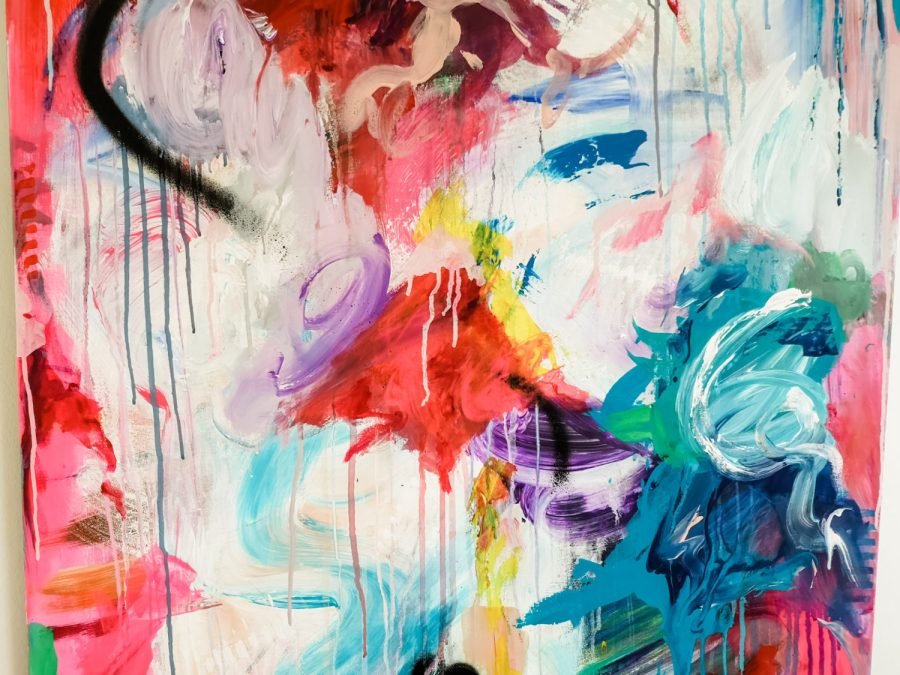 colourful close up of allanisart original abstract painting